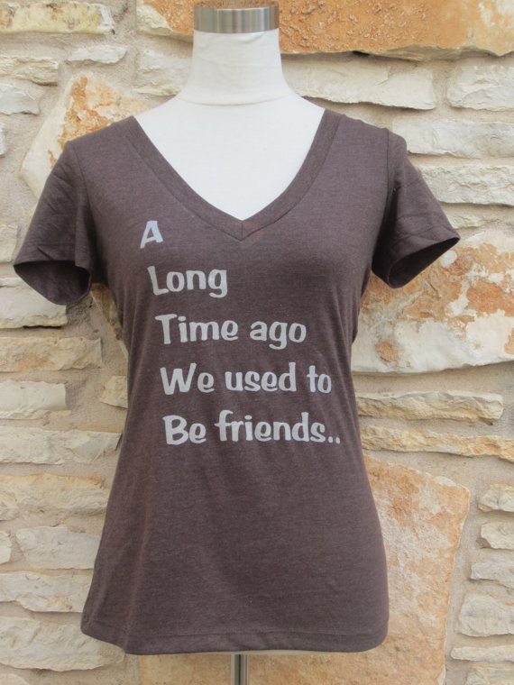 Veronica Mars Theme Women's Screenprinted Shirt (a long time ago we used to be friends)