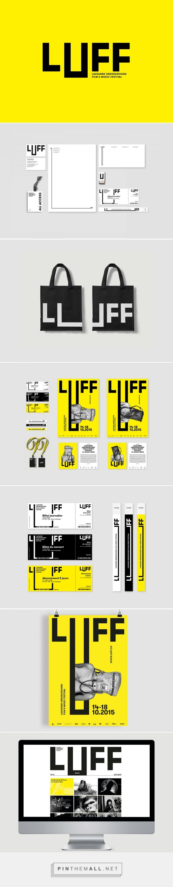Lausanne Underground Film & Music Festival on Behance... - a grouped images picture - Pin Them All