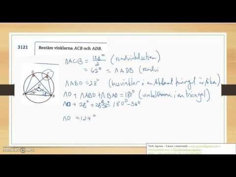 Genomgång av Matematik 5000 Ma 2c   Kapitel 3   Randvinklar och medpunkt...