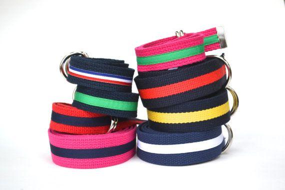 456a3f07 Pink and Green Ribbon Belt, Child Belt, Adjustable Kids Belt Pink ...