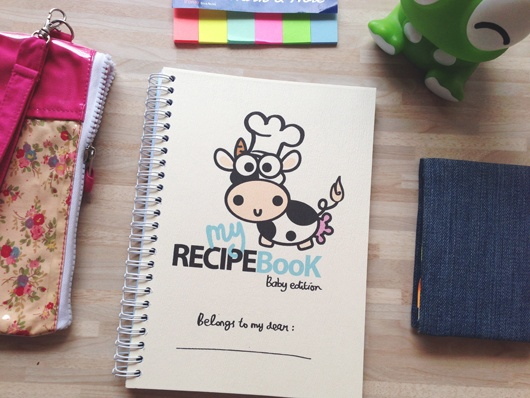Recipe Book Baby Edition  IDR 109.000    Size: A5  Ink: Water & Fade Resistant  Recipe pages, notes, vitamin pages,  growth record pages, meal planner pages