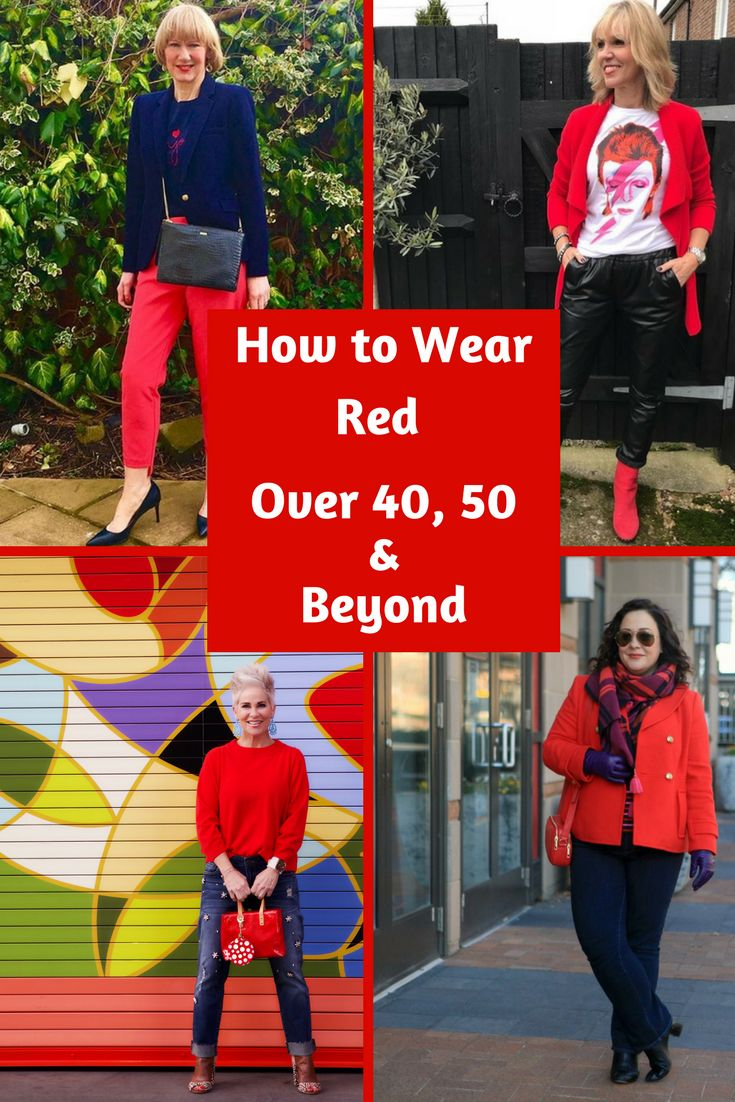 How to Wear Red Over 40, 50 & Beyond   Midlife Fashion Bloggers Rock the Red