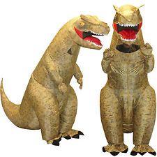 T-Rex Jurassic Park Inflatable Dinosaur Adult Fancy Dress Costume TRex 7ft Tall