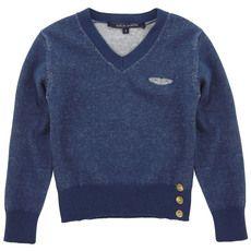 Aston Martin - Dark blue sweater with a V neck