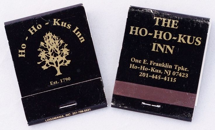 Ho-Ho-Kus Inn - Ho-Ho-Kus, New Jersey - 20 stem #matchbook To order your business' own branded #matches GoTo: www.GetMatches.com or Call 800.605.7331 TODAY!