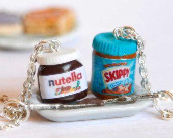 BFF nutella et l'arachide beurre colliers, amant de Nutella, bff colliers, bij…