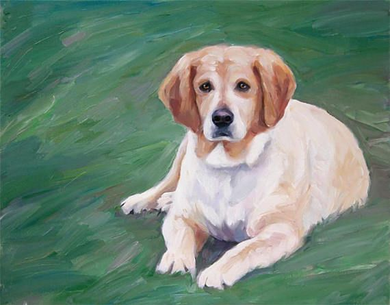 Custom Dog Portrait Painting from Photo Fine Art #christmas #gifts Unique Gift by AnastassiaArt on #etsy