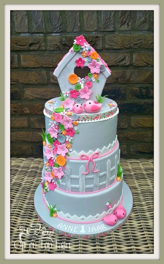 Spring Birdhouse Cake - Cake by Nancy Lagerwaard