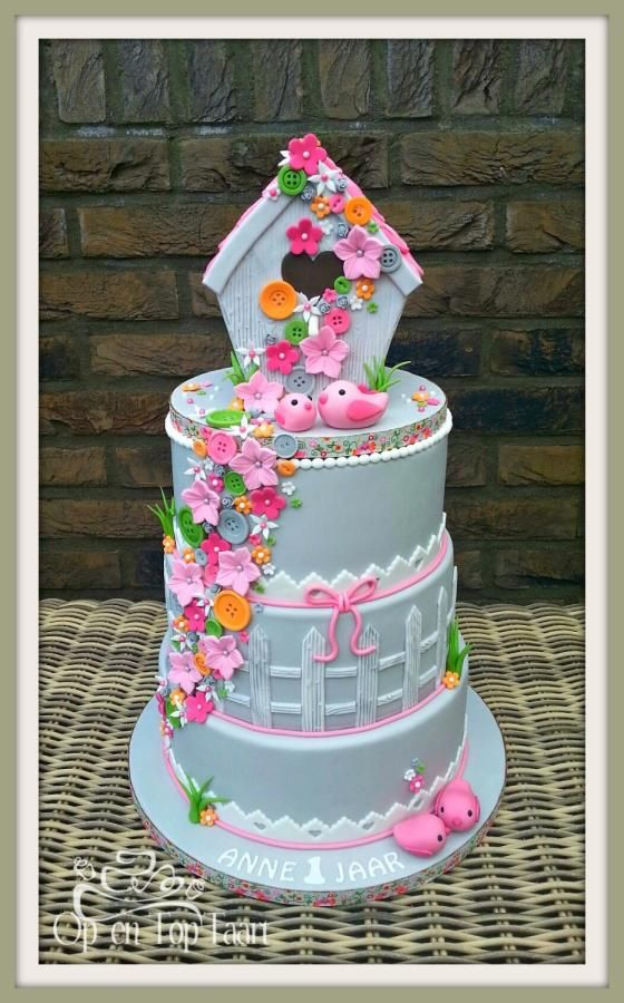 Spring Birdhouse Cake - Cake by Nancy Lagerwaard