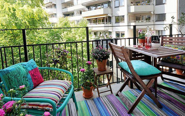Decoración y amueblamiento de terrazas y balcones