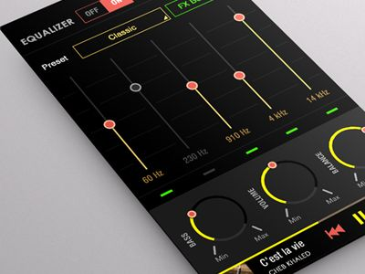 Equalizer Mobile Player App by Yasser Achachi