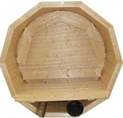 Insidan på badtunna i trä 2,0 m