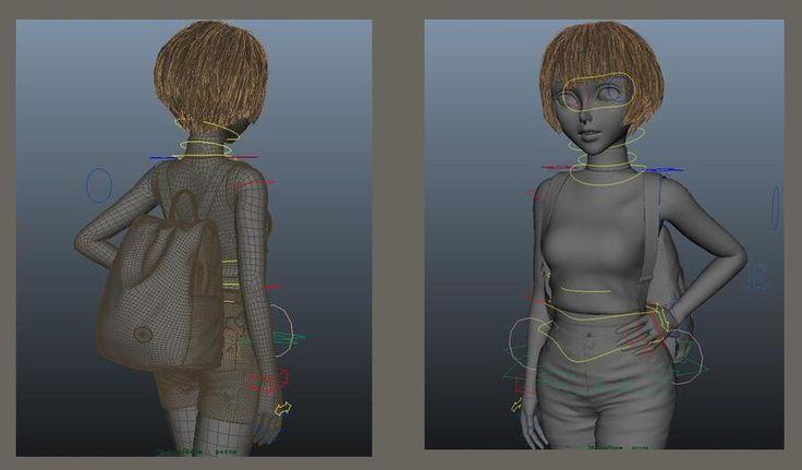 3D-моделирование и проектировка персонажа для мультфильма. Autodesk 3ds Maya