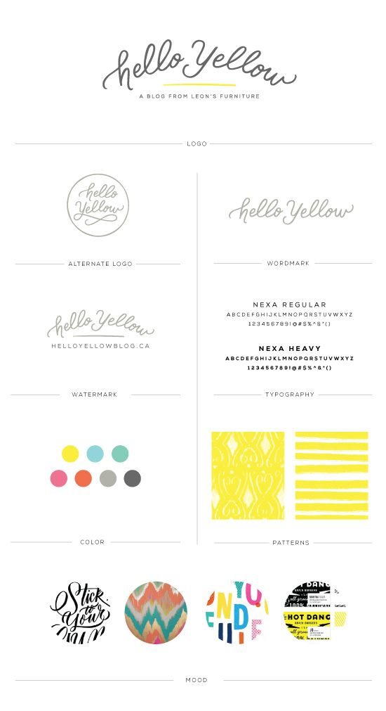 Hello Yellow Branding An Interior Design Blog