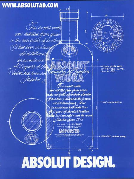 Absolut Design! Blue sketch