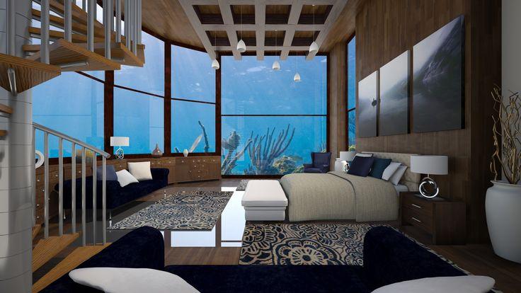 78 best ideas about underwater bedroom on pinterest for Underwater bedroom designs