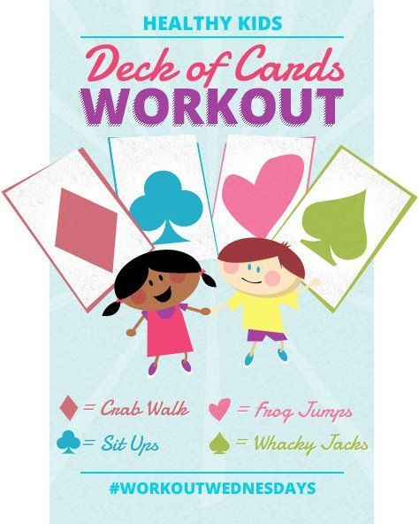 Deck of Cards Workout for Kids