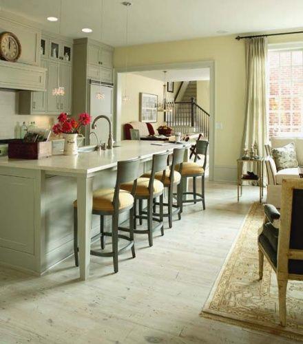Galley Kitchen With Bar