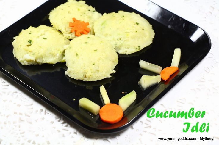 Yum! Yum! Yum!: Cucumber Idli  ~ Instant Idli ~ Konkani Recipes