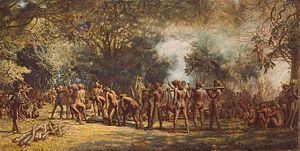 Dans l'étendue sauvage d'Afrique de Sud, Candide et Cacambo ont été presque mangés par les cannibales qui pensaient qu'ils étaient les Jésuites (21)