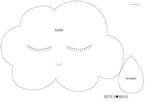 Moldes para que você mesma possa criar sua nuvem de feltro ou tecido. e reuni também muitas inspirações de cor, modelos e tamanhos para que você se inspire.