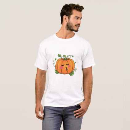 Pumpkin Kiss Emoji Thanksgiving Halloween T-Shirt - thanksgiving tshirts custom unique happy thanksgiving holiday celebrate