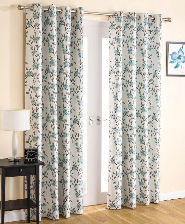 Serenity Ready Made Blockout Eyelet Curtains Teal