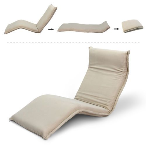 Adjustable Floor Chair Lounger Sofa Bed 5 Position Seat