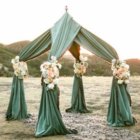 Jewish wedding ceremony alter outdoor green draped chuppah - beach wedding  sc 1 st  Pinterest & 44 best Jewish Weddings images on Pinterest | Jewish weddings ...