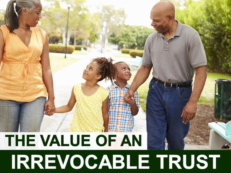 """The Value of An Irrevocable Trust from Anderson, Dorn & Rader, Ltd. There are two types of irrevocable trusts: irrevocable living trusts and testamentary trusts. They both serve different purposes.An irrevocable living trust, also referred to as an """"inter vivos irrevocable trust,"""" is created and funded by someone who is still living. However, a testamentary... Read more"""