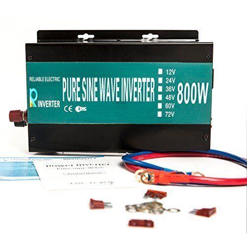 Reliable Powerdrive Inverter 800w 1600w Peak Pure Sine Wave Inverter 12v 120v 60hz LED Display Yueqing Reliable http://www.amazon.com/dp/B0154BQFDU/ref=cm_sw_r_pi_dp_D.lIwb12C1CTX