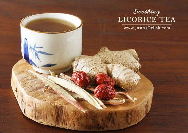 Licorice Tea - Sore Throat Remedy | JustAsDelish.com