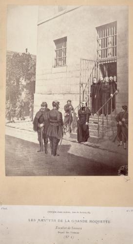 La Commune. Les martyrs de la Grande-Roquette, 24 mai 1871, escalier de secours départ des victimes, 11ème arrondissement, Paris. | Paris Musées