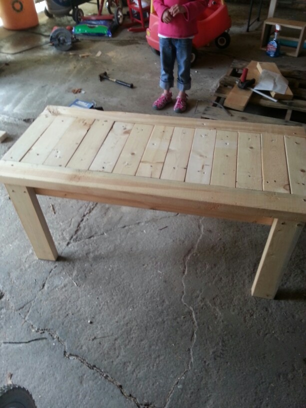2x4 bench | projects for hubby! | Pinterest