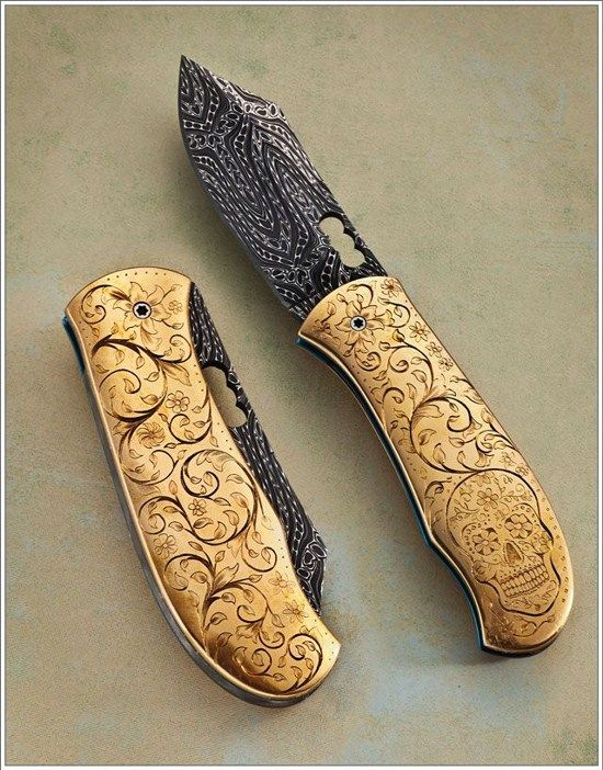 15 Most Beautiful and Custom Pocket Knives ~ Techij http://www.techij.com/2013/08/personalized-custom-pocket-knives.html #knives #gadgets #pocketknives #knife