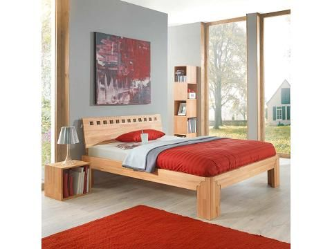 """Massivholzbett """"Angelit"""" inkl. Kopfteil aus Kernbuche, komplett ohne Metall. Handgefertigte Konstruktion inklusive Kopfteil. In verschiedenen Größen erhältlich. #Massivholzbett #Holzbett #Ökomöbel #furniture #beds #sustainability #ecological #solid_wood"""