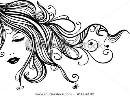 cosmetology drawings long woman cartoons sensual closed