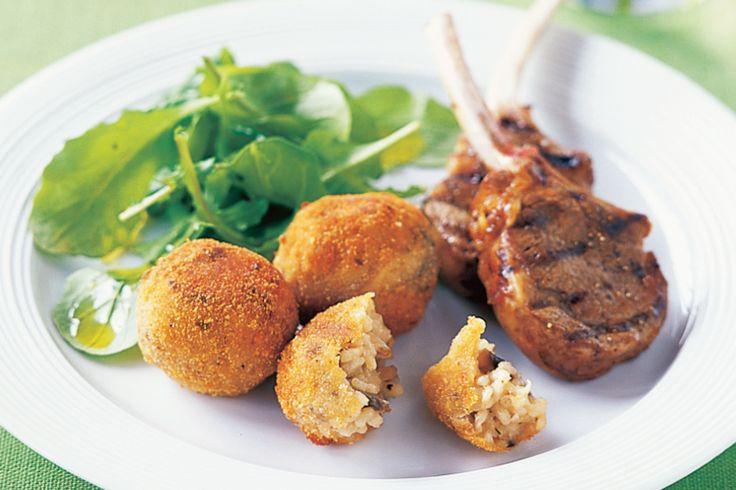 Mushroom Risotto Balls Recipe - Taste.com.au