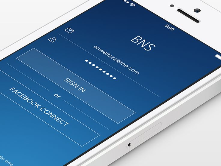 BNS — app for iPhone [Login Screen]