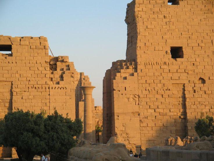 Sun on the Luxor Temple, Egypt.  Photo: David Yustin