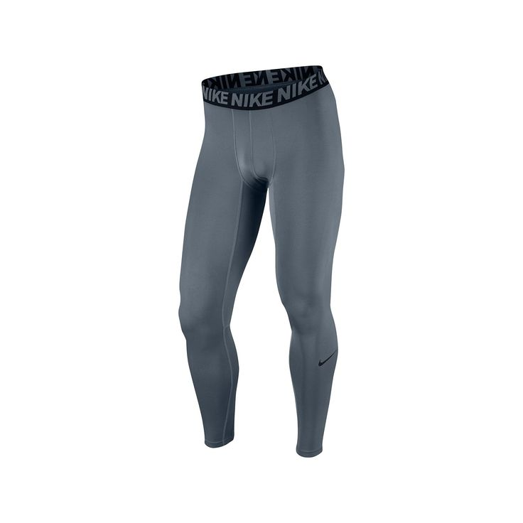 Men's Nike Dri-FIT Base Layer Compression Cool Tights, Size: Medium, Grey Other