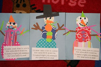 If snow came down in colors,  How splendid it would be,  To make bright, jolly snowmen  For everyone to see!