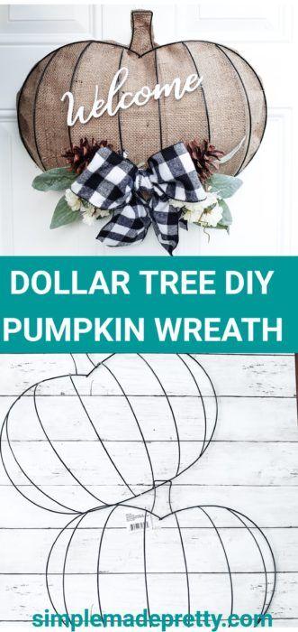 DIY Dollar Tree Pumpkin Wreath Form