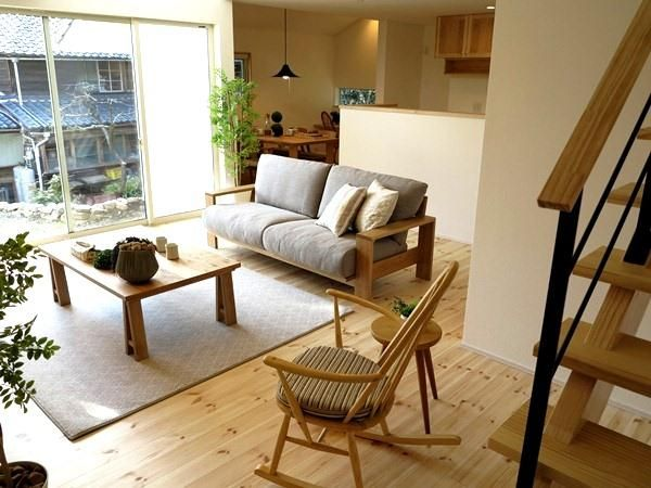 北欧スタイルのナチュラルコーディネートしたLD空間をご紹介!内装と絶妙なバランスで合わせました |家具なび ~きっと家具から始まる家づくり~