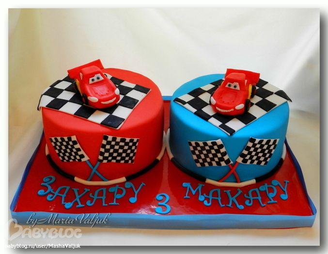 Детские торты для близнецов девочек