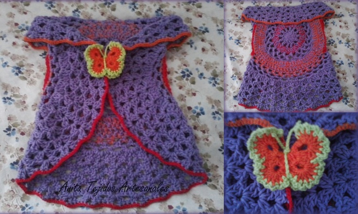 Chaleco circular para nena de 1 año.   Crochet Nenas   Pinterest