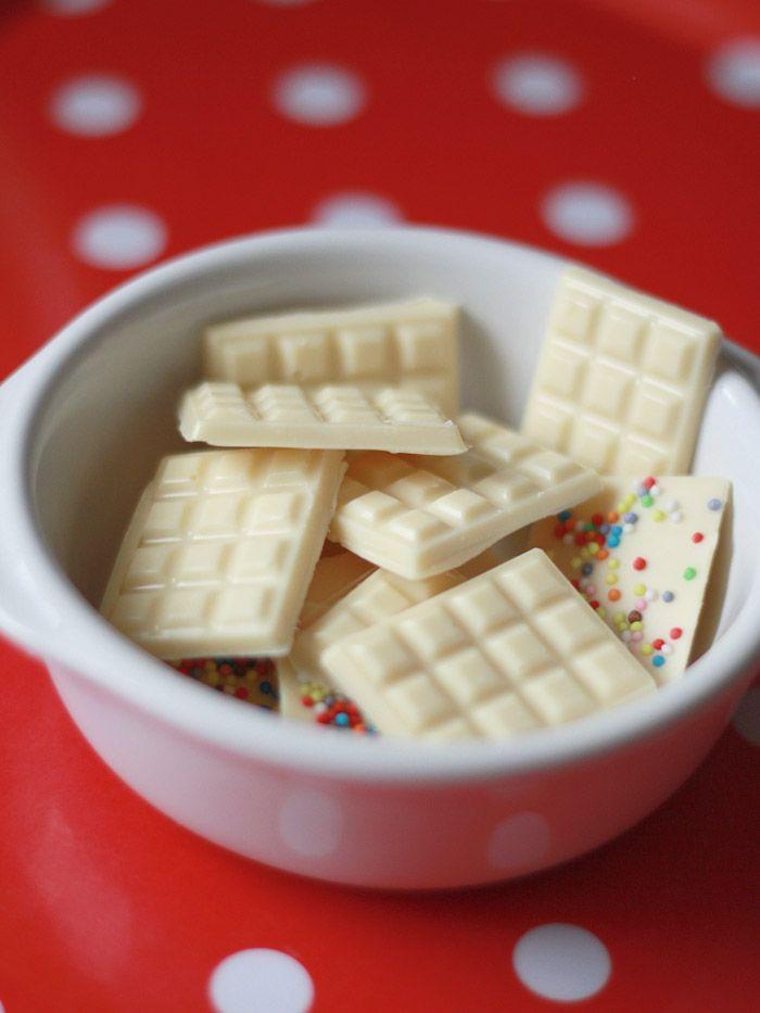 mini tablettes chocolat blanc