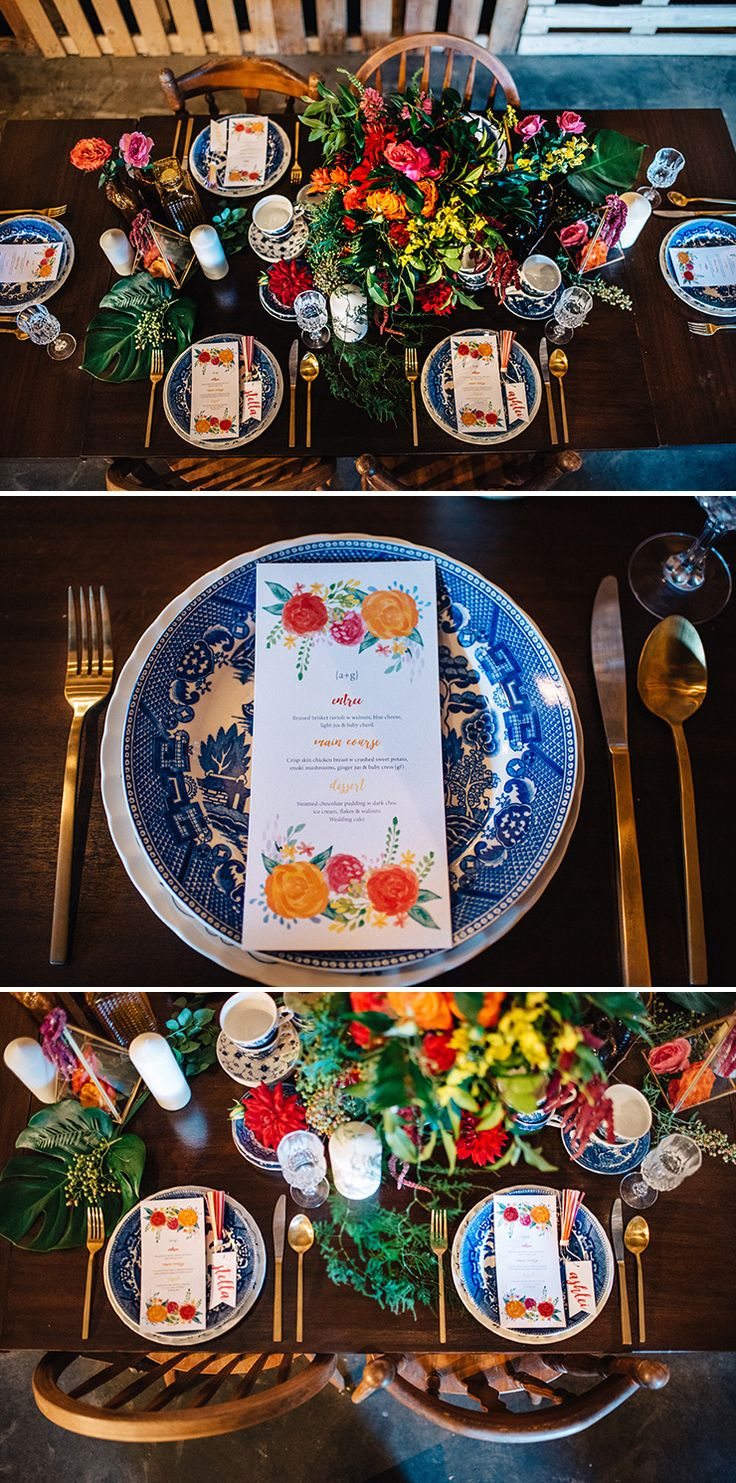 Bright and eclectic boho wedding reception styling | Peppermint Photography