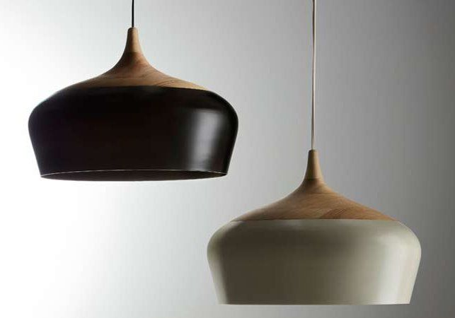 Victorian Ash wood with powder coated spun aluminium Coco Pendant by Kate Stokes of Coco Flip Design Studio