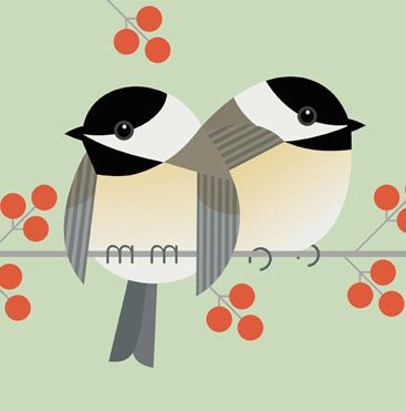 charley harper chickadee - Google Search